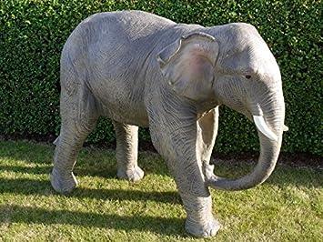 Merveilleux Jumbo Safari Elephant Garden Statue Ornament Large Tall Resin Sculpture  120cm