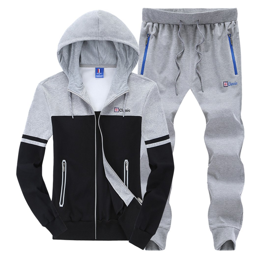 Modern Fantasy Men's Colour Blocking Winter Casual Tracksuit Running Joggers Sports Sweatsuit Big 6922906213817
