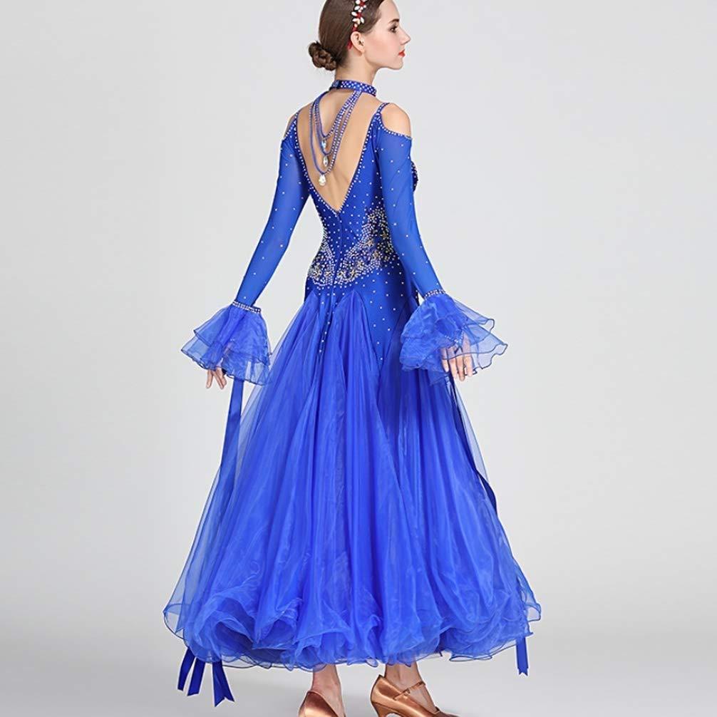 CX Erwachsene Mädchen Walzer Modern Dance Wettbewerb Kleid Kleid Kleid National Standard Ballsaal Tango Leistung Langarm Skirs Strass Kostüm B07Q8R3FNK Bekleidung Hohe Qualität und Wirtschaftlichkeit af795b