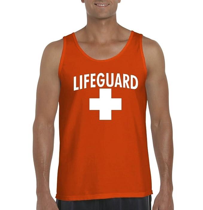 944de38caa3 Acacia Lifeguard in White Mens Tank Top Medium Orange  Amazon.ca ...