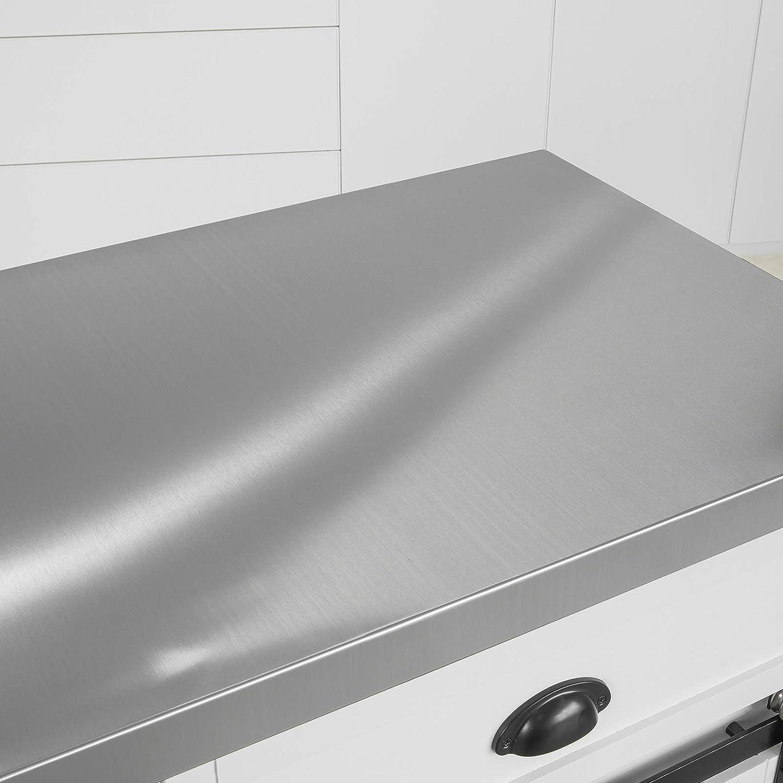 SoBuy FKW94-W Design Küchenwagen mit Flaschenablage Küchenschrank mit 2  Schiebetüren