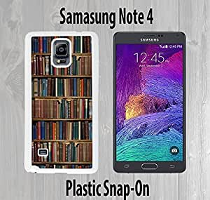 Bookcase Custom made Case or Cover skin FOR Samsung Galaxy Note 4 White Case armase phonewaterproofase for iphone