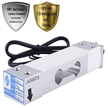 lotoclub sistema de peso y Embalaje Industrial aluminio ponderación Sensor único punto célula de carga sensor de dilatación 110lb: Amazon.es: Hogar