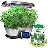 Miracle-Gro AeroGarden Bounty Elite with Gourmet Herb Seed Pod Kit, Stainless Steel