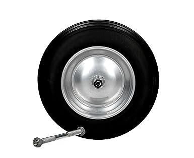 Rueda maciza de poliuretano, repuesto para carretilla, 3.50 – 8, eje 350 mm