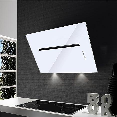 Campana Cocina airone pared Pluton cristal blanco 80 cm: Amazon.es: Grandes electrodomésticos