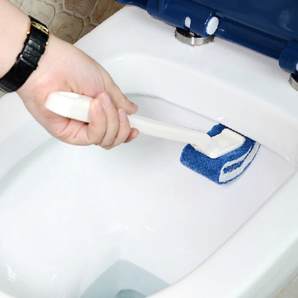 Ungfu Mall 1PC nylon materiale toilette spazzola di pulizia Closestool spazzole da bagno, vasca lavabo, maniglia per aspirapolvere ciotola bacino nylon cotone spazzola Ungfu Mall