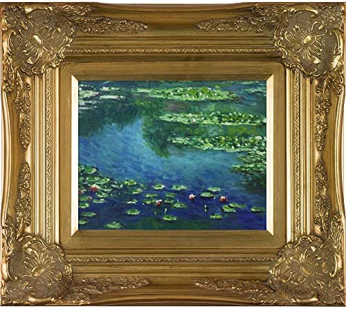 overstockArt Monet Water Lilies Artwork with Victorian Gold Frame