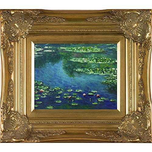 (overstockArt Monet Water Lilies Artwork with Victorian Gold Frame )