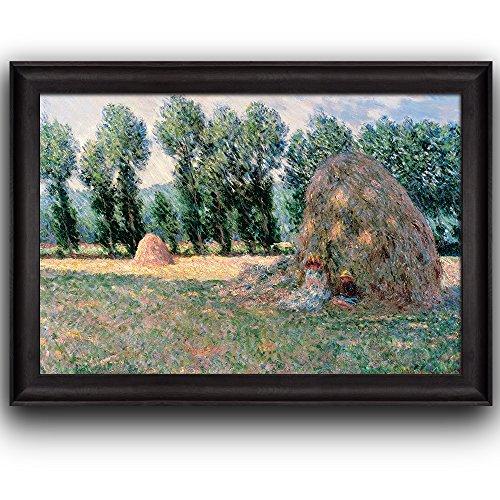 Haystacks by Claude Monet Framed Art