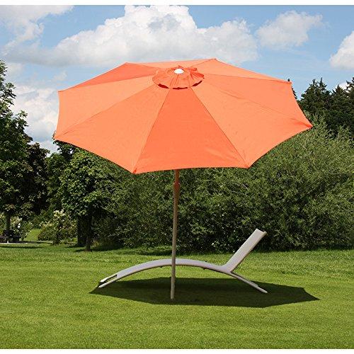 Alu Sonnenschirm Gartenschirm N19 300cm, neigbar, rostfrei ~ terracotta