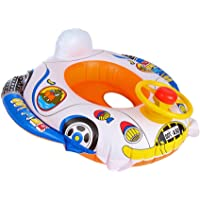 Funkeet Baby Float Seat Boat Pool Swim Ring With Handle Underarm Ring Seat Inflatable Pool Bath