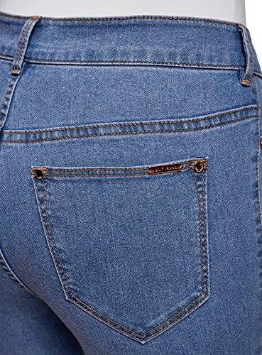 Azul oodji 7000w Alta de Tobilleros Skinny Ultra Mujer Vaqueros Cintura 8a8B4