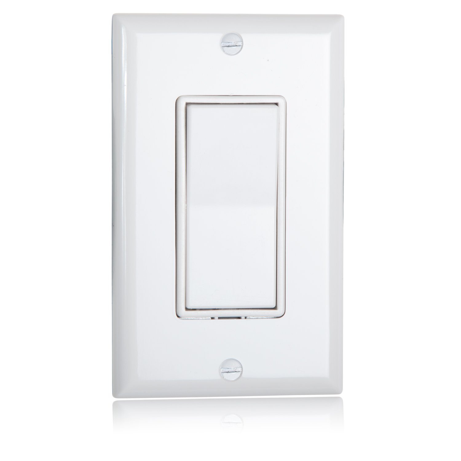 Pack of 10 Maxxima 3 Way Decorative Wall Switch On//Off White 15A Rocker Light Switch Wall Plates Included