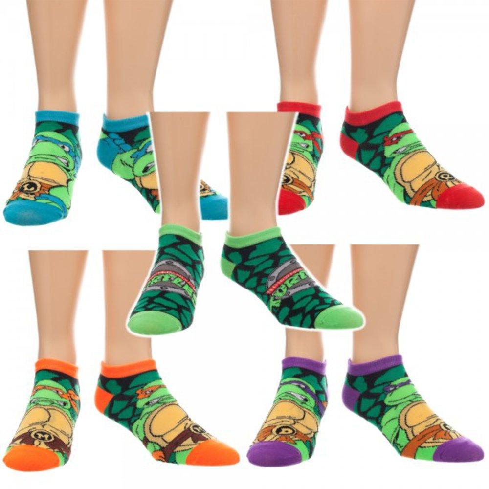Teenage Mutant Ninja Turtles Character Ankle Socks 5 Pair