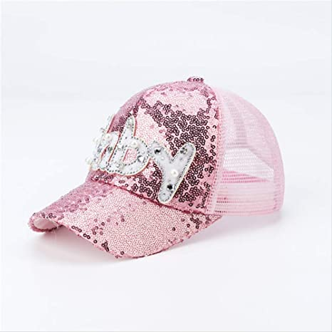 qqyz Bebé De Niños con Lentejuelas Net Hat Versión Coreana Sun ...
