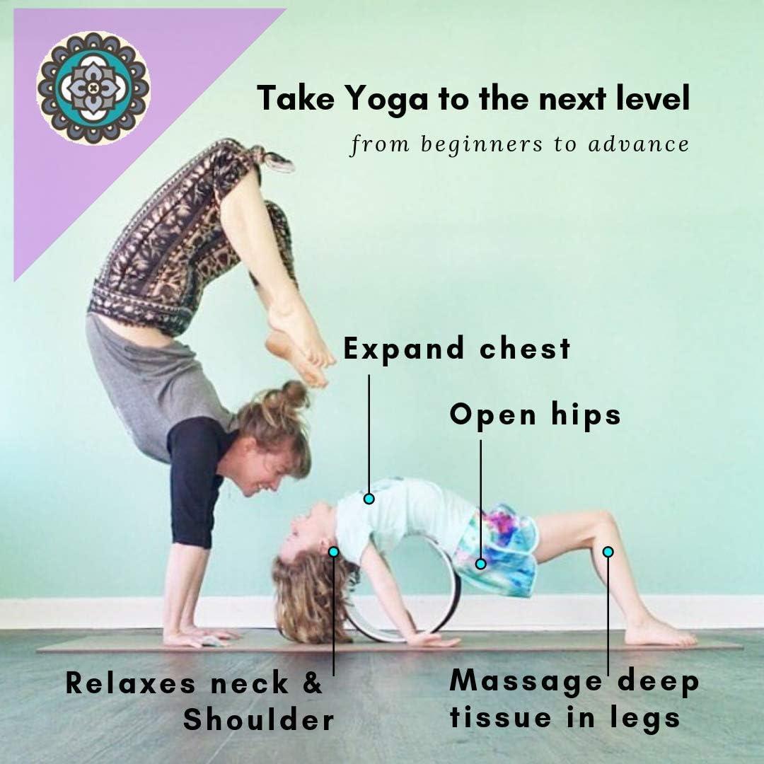 Amazon.com: Mindful - Rueda de yoga y guía de postura, extra ...