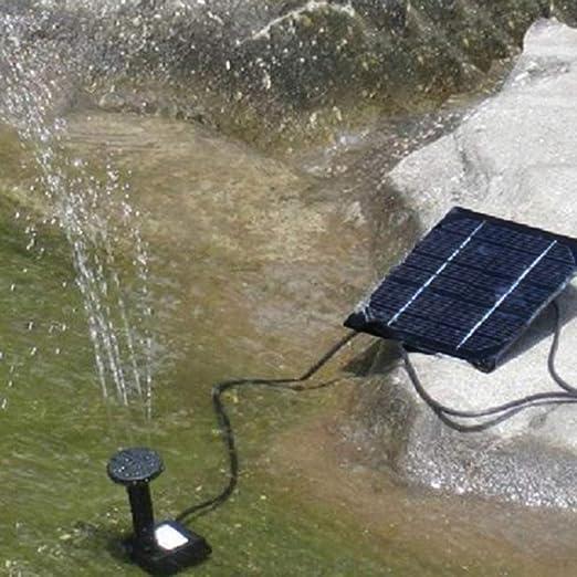 Finive Fuente solar, 1,5 W, bomba solar para estanque con bomba de agua solar, fuente flotante, bomba, 4 estilos de fuente para jardín, piscina de pájaros, estanque, depósito de pescado: Amazon.es: Hogar