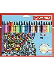STABILO Premium-Filzstift Pen 68, 30er Pack, mit 30 verschiedenen Farben