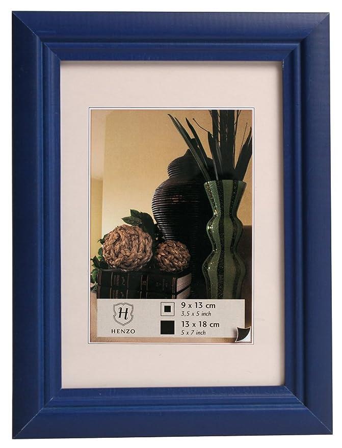 Amazon.de: Henzo 8065407 Rahmen Artos Bilderrahmen, Holz, blau, 30 x ...