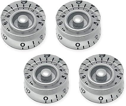 Set of 4 Quality Speed Knob Set For Gibson USA WHITE