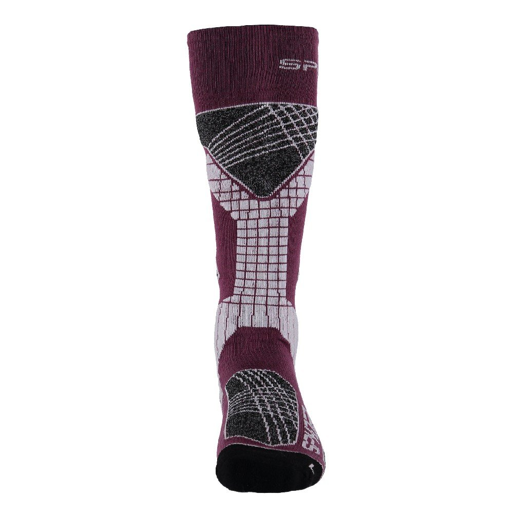 Spyder Women's Zenith Sock, Amaranth/Grape/White, Medium
