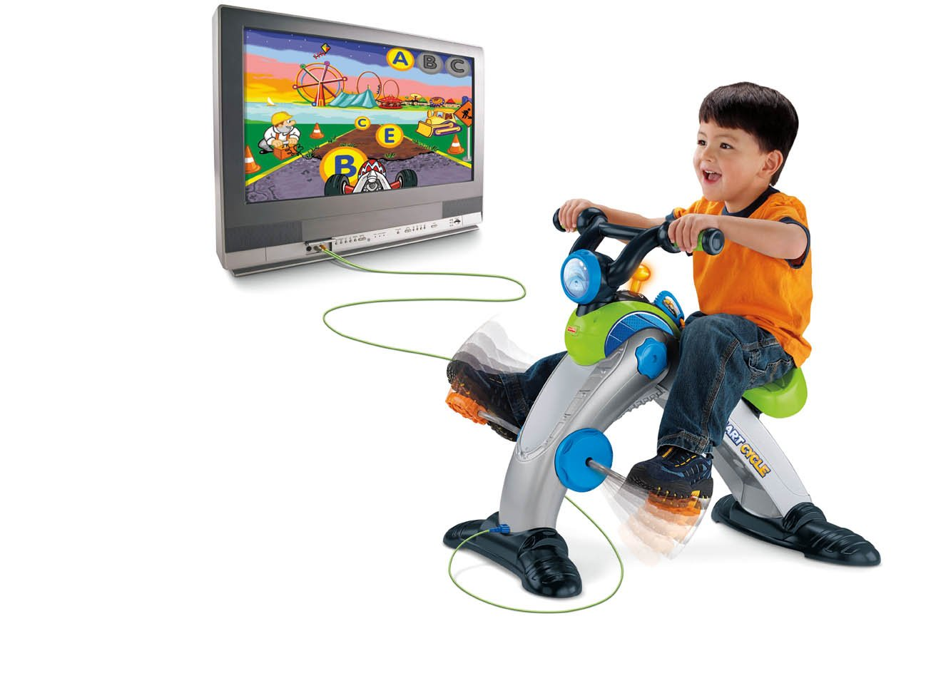 For Toddlers & Big Kids: Fisher-Price SMART CYCLE Racer Physical Learning Arcade System