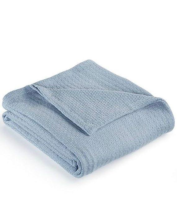 Lauren Ralph Lauren Estate Classic Cotton Full/Queen Blanket - Blue