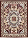 Nain Collection Persian Isfahan Design Traditional Area Rug (13′ x 20′ FT) Burgundy Living & Dinning room Décor Review
