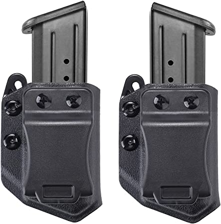 2-Pack Universal IWB/OWB Magazine Holster/Mag Carrier for 9mm/.40 Double Stack Magazines