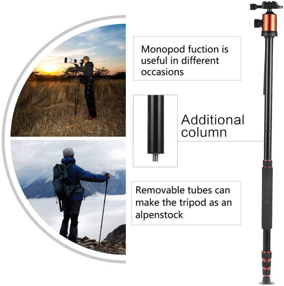 Tripod for Camera Heavy Duty Professional Portable Magnesium Aluminium Travel Tripod Stand Monopod for Digital SLR DSLR Camera Tripod
