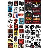 PC Hardware : NAVAdeal 57pcs Assorted Rock Punk Music Band Vinyl Laptop Car Bumper Stickers