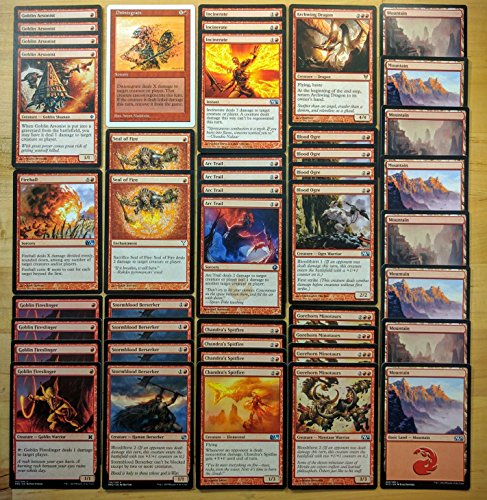 Magic Custom (Magic: The Gathering Modern Bloodthirst Red Aggro Custom Magic Deck)