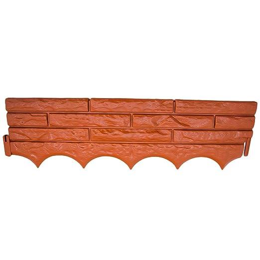Rojo pared de ladrillos - Borde de Jardín, Cian: Amazon.es: Jardín