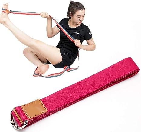ZZKJNIU CinturóN EláStico En La Pierna De AlgodóN: Equipo De Ejercicio De Yoga para Mujeres, Cintura para Ejercicios De Baile, Equipo De Entrenamiento De Piernas, Longitud 250 Cm,Red: Amazon.es: Deportes y aire