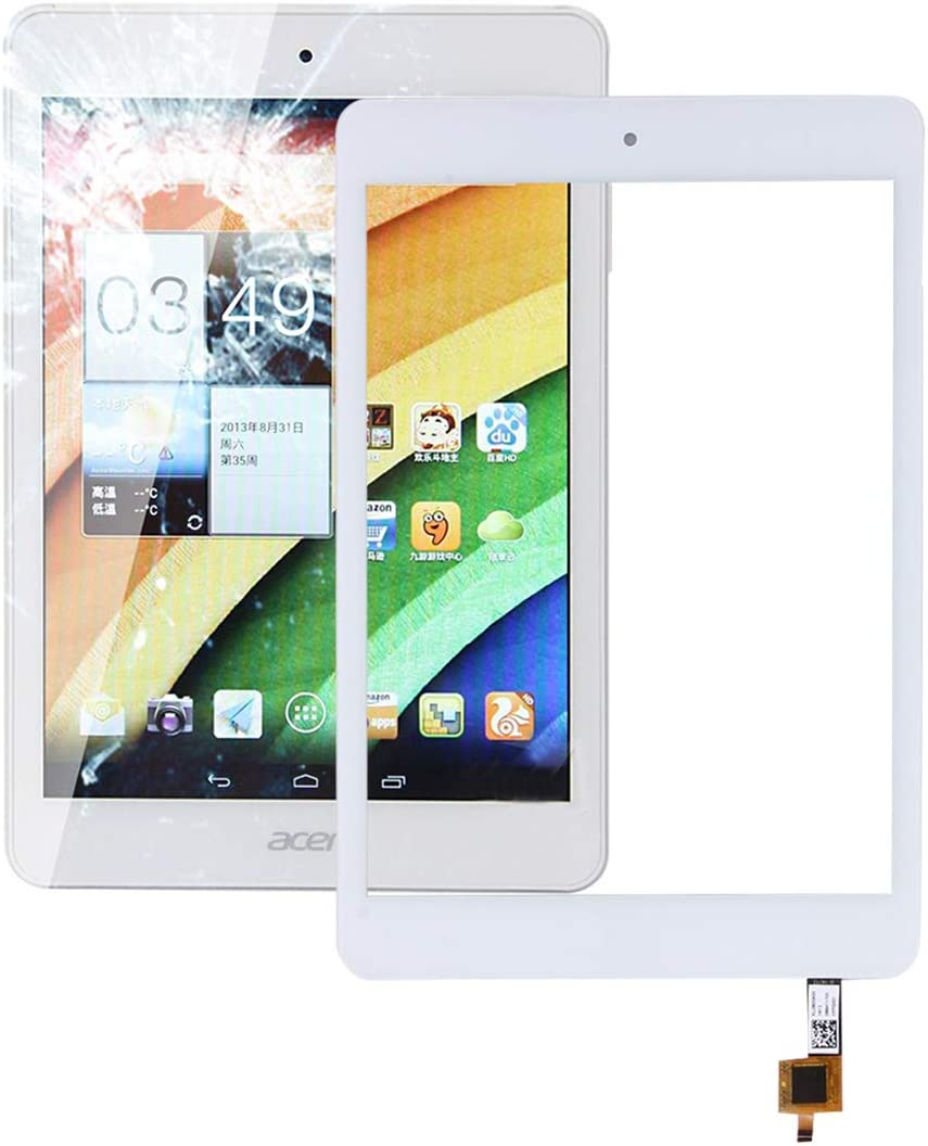 ZENGMING Repair Parts Touch Panel for Acer Iconia A1-830(White) Phone Replacement Parts (Color : White)