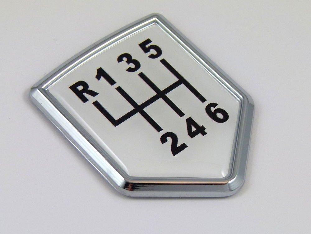 Aplique Cromo Placa de cambio de 6 velocidades