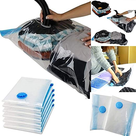 5 Sizes Vacuum Seal Compressed Organizer Clothes Household Storage Bags