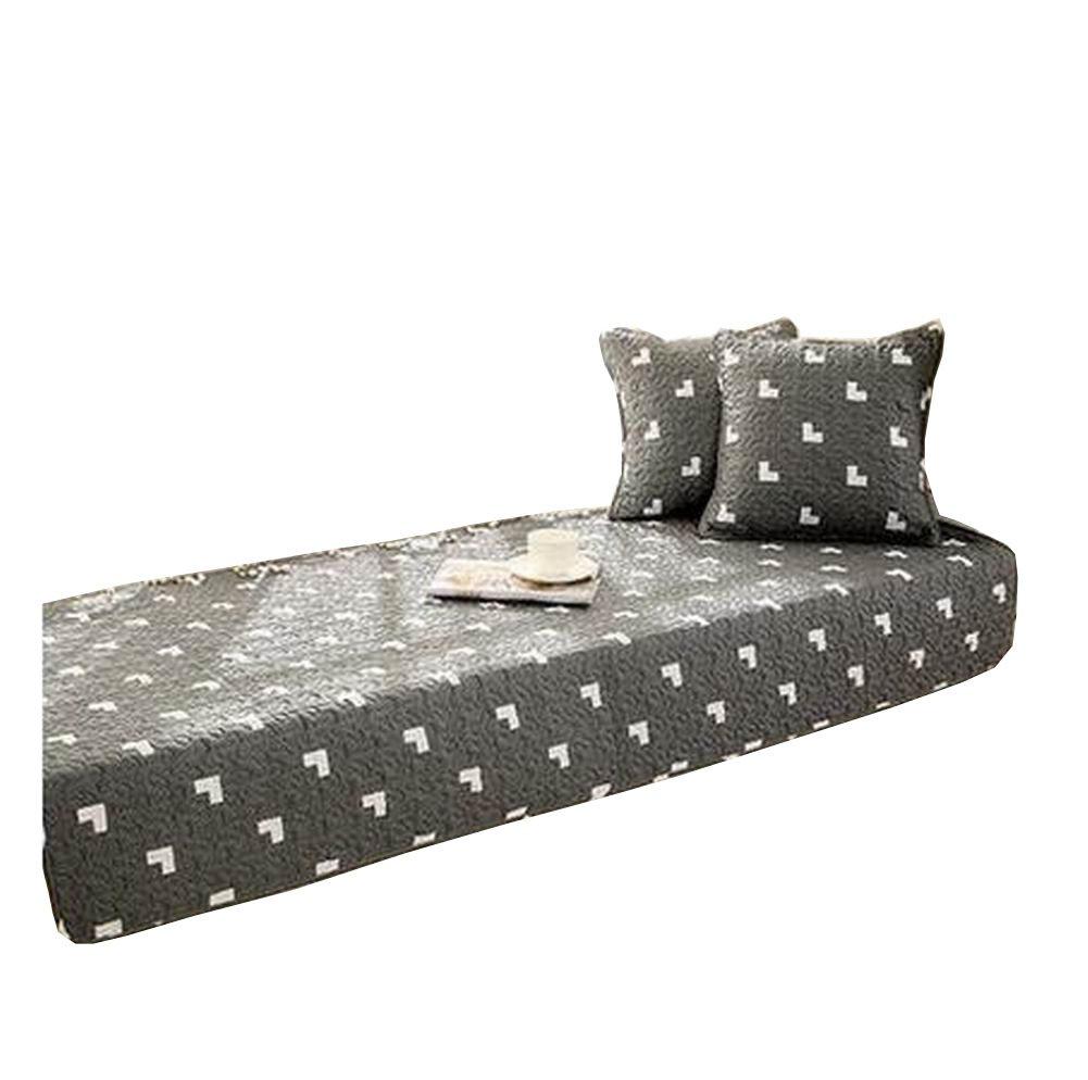Black Temptation Modern Window Bench Mat Sofa Mat, Not Includes Cushions [H]