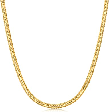 24/'/' Gold Stainless steel Round Snake Chain Necklace In Fashion Jewelry 3mm