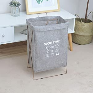 TOBY Dirty Clothes Laundry Hamper, with Handle Breathable Collapsible Storage Basket Easy Transport for Home College Dorm-F 25x36x48cm(10x14x19inch)