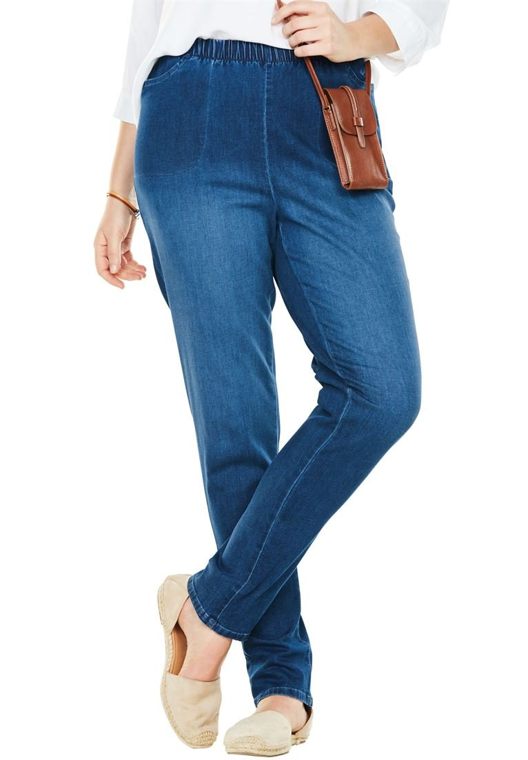Women's Plus Size Straight Leg Fineline Jean