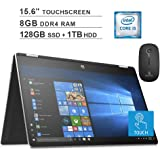 2020 HP Pavilion X360 15.6 Inch Touchscreen 2-in-1 Laptop| Intel Core i5-8265U up to 3.9 Ghz| 8GB RAM| 128GB SSD (Boot) + 1TB HDD| WiFi| Bluetooth| Win10 + NexiGo Wireless Mouse
