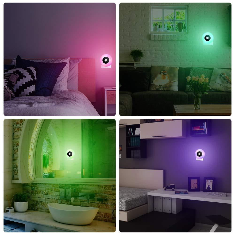 BeiLan 2 piezas L/ámpara de Luna,8 Colores RGB Luz Nocturna LED Lampara para Ni/ños Beb/é Regalo de Fiesta Decoraci/ón