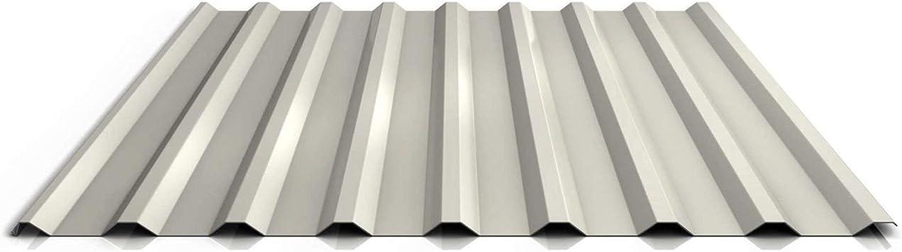 Chapa trapezoidal, chapa de perfil, chapa de tejado, perfil PS20/1100TR, material de acero, grosor de 0,63 mm, revestimiento de 25 μm, color marfil claro: Amazon.es: Bricolaje y herramientas