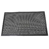 Kitchen Bar and Restaurant Valuebox Black Anti-Fatigue Mat 59'' x 35''Anti-slip Rubber Drainage Kitchen Restaurant Bar Indoor Floor Matting For Wet or Greasy Areas