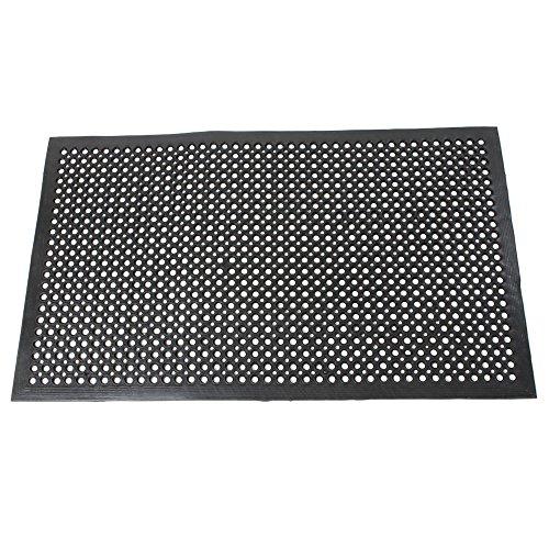 Valuebox Black Anti-Fatigue Mat 59'' x 35''Anti-slip Rubber Drainage Kitchen Restaurant Bar Indoor Floor Matting For Wet or Greasy Areas