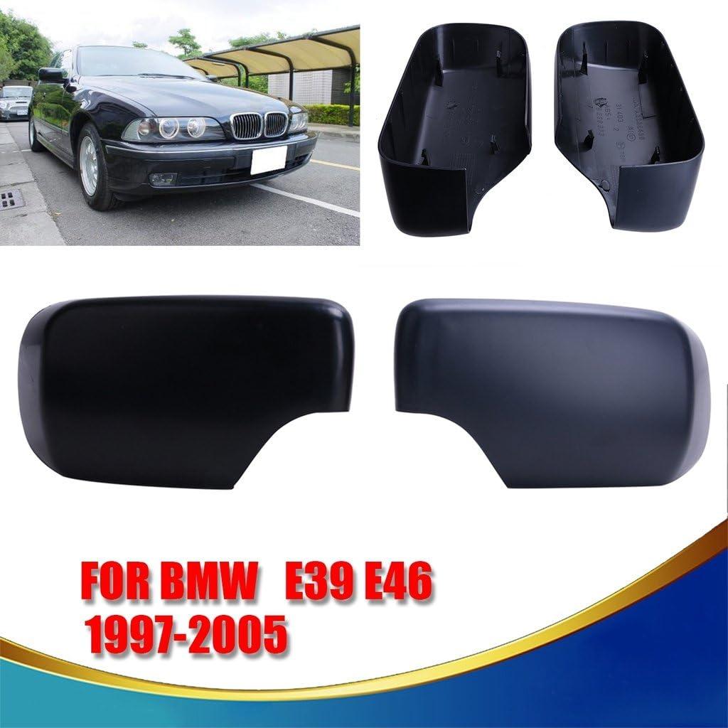 Espear Left Door Mirror Cover Cap exterior rearview covering for BMW e39 e46 1997-2005