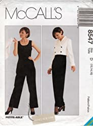 McCalls sewing pattern 8547 designer jumpsuit and cropped jacket - Size 12-14-16