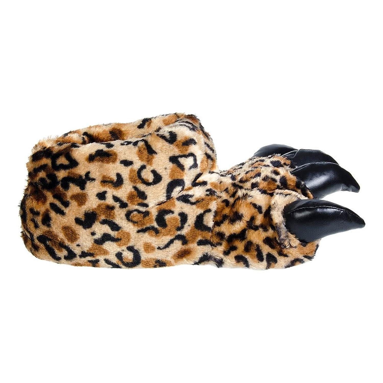 Blue Banana Zapatillas de Leopardo con Garras (Marrón) - S / M ohS7IfzFW